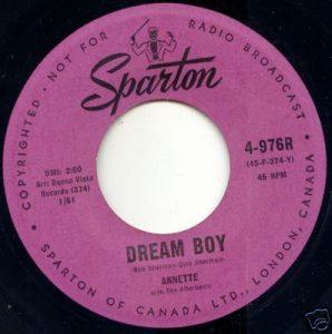 Annette - 374AX - Dream Boy 45 (Sparton 4-976R).jpg
