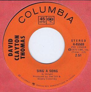 David Clayton Thomas - Sing A Song 45 (Columbia Canada).jpg