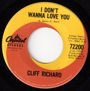 Cliff Richard - I Don't Wanna Love You 45 (Capitol Canada).jpg