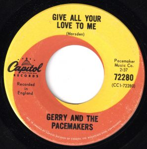 Gerry & The Pacemakers - Give All Your Love To Me