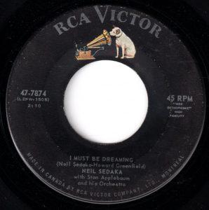 Neil Sedaka - I Must Be Dreaming 45 (RCA Victor Canada).jpg