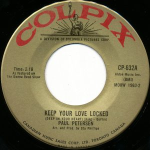 Paul Petersen - Keep Your Love Locked 45 (Colpix Canada).jpg