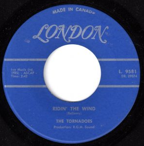 Tornadoes - Ridin' The Wind 45 (London Canada).jpg