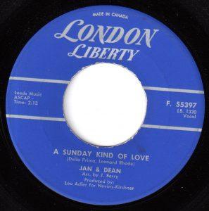 Jan & Dean - A Sunday Kind Of Love 45 (London Liberty Canada).jpg
