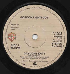 Daylight Katy by Gordon Lightfoot