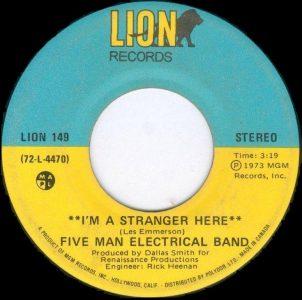 Five Man Electrical Band - I'm A Stranger Here