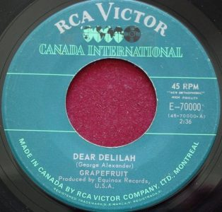 Dear Delilah by Grapefruit