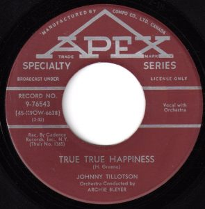 True, True Happiness by Johnny Tillotson