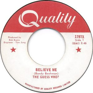 Believe Me by The Guess Who?