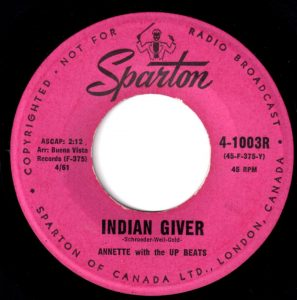 Indian Giver by Annette with the Up Beats