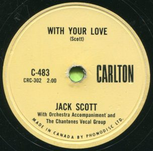 With Your Love by Jack Scott