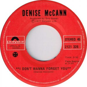 I Don't Wanna Forget About You by Denise McCann