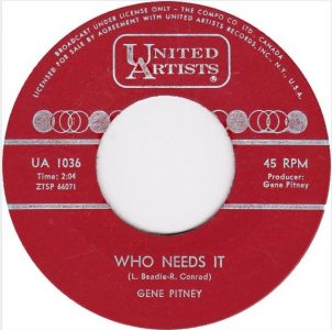 Who Needs It by Gene Pitney