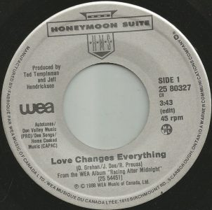Love Changes Everything by Honeymoon Suite