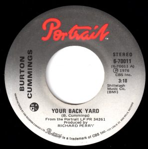 Your Back Yard by Burton Cummings