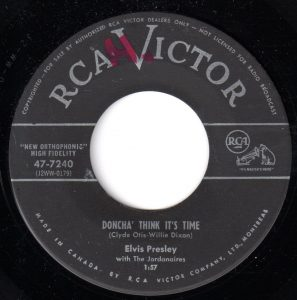 Doncha' Think It's Time by Elvis Presley