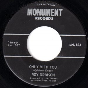 Only With You by Roy Orbison