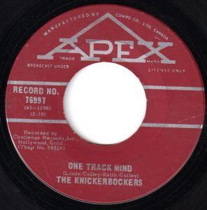One Track Mind by The Knickerbockers