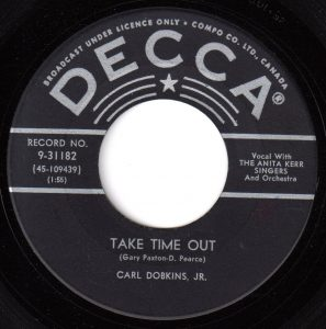 Take Time Out by Carl Dobkins Jr.