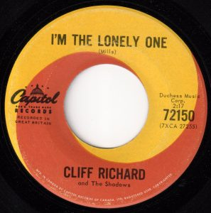 I'm The Lonely One by Cliff Richard and The Shadows