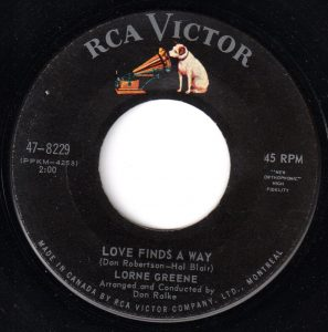 Love Finds A Way by Lorne Greene