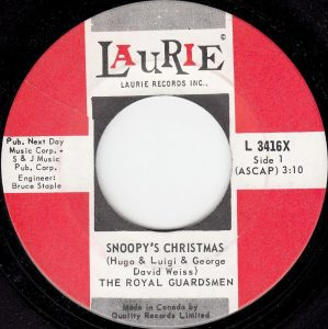 Snoopy's Christmas by The Royal Guardsmen
