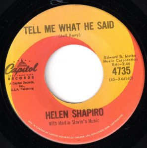 Tell Me What He Said by Helen Shapiro