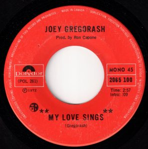 My Love Sings by Joey Gregorash