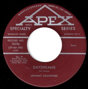 Daydreams/So Goes The Story by Johnny Crawford