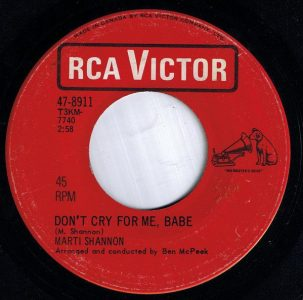 Don't Cry For Me Babe by Marti Shannon
