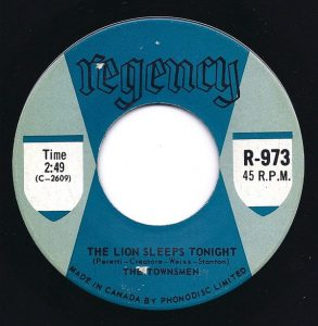 The Lion Sleeps Tonight by The Townsmen